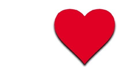 Big red heart header