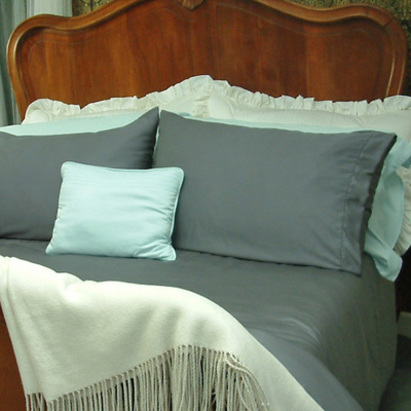Click to enlarge - Allergy Friendly Bamboo Bed Linen in Duck Egg Blue