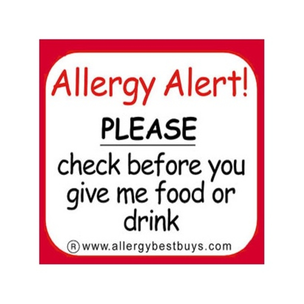 Allergy Alert Stickers Allergy Best Buys