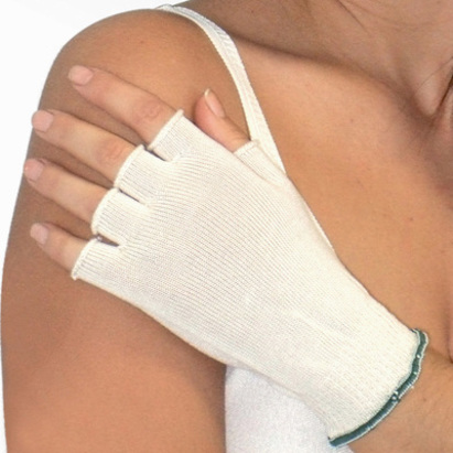Click to enlarge - DermaSilk Therapeutic Fingerless Gloves for Adults