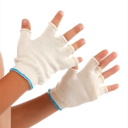 Click to enlarge - DermaSilk Therapeutic Fingerless Gloves for Children