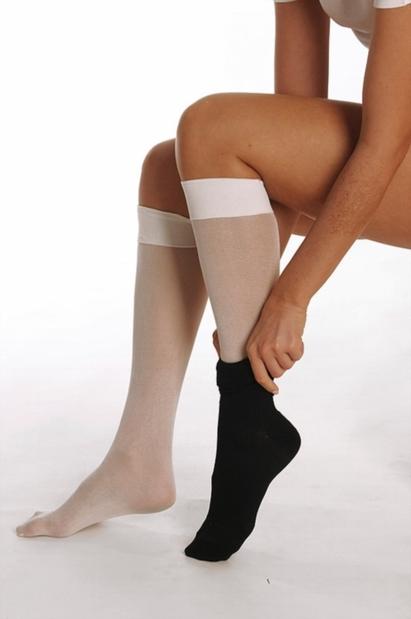 Click to enlarge - DermaSilk Therapeutic Knee high Undersocks