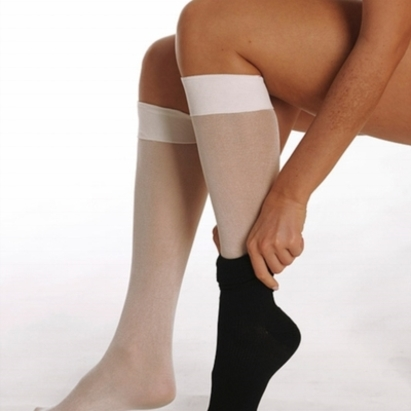 Click to enlarge - DermaSilk Therapeutic Knee high Undersocks