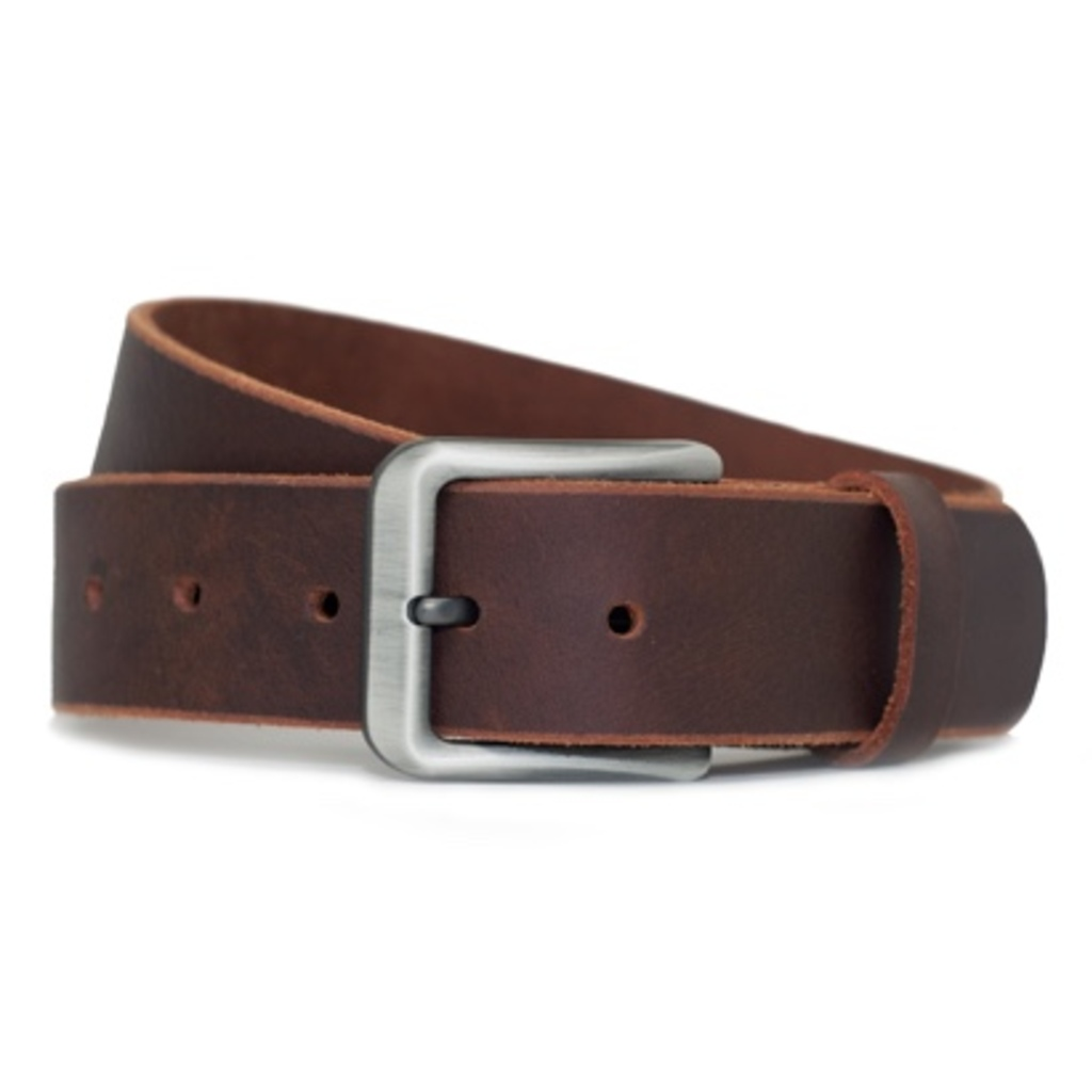Nickel-free Men's Casual Leather Belt by Nickel Smart™