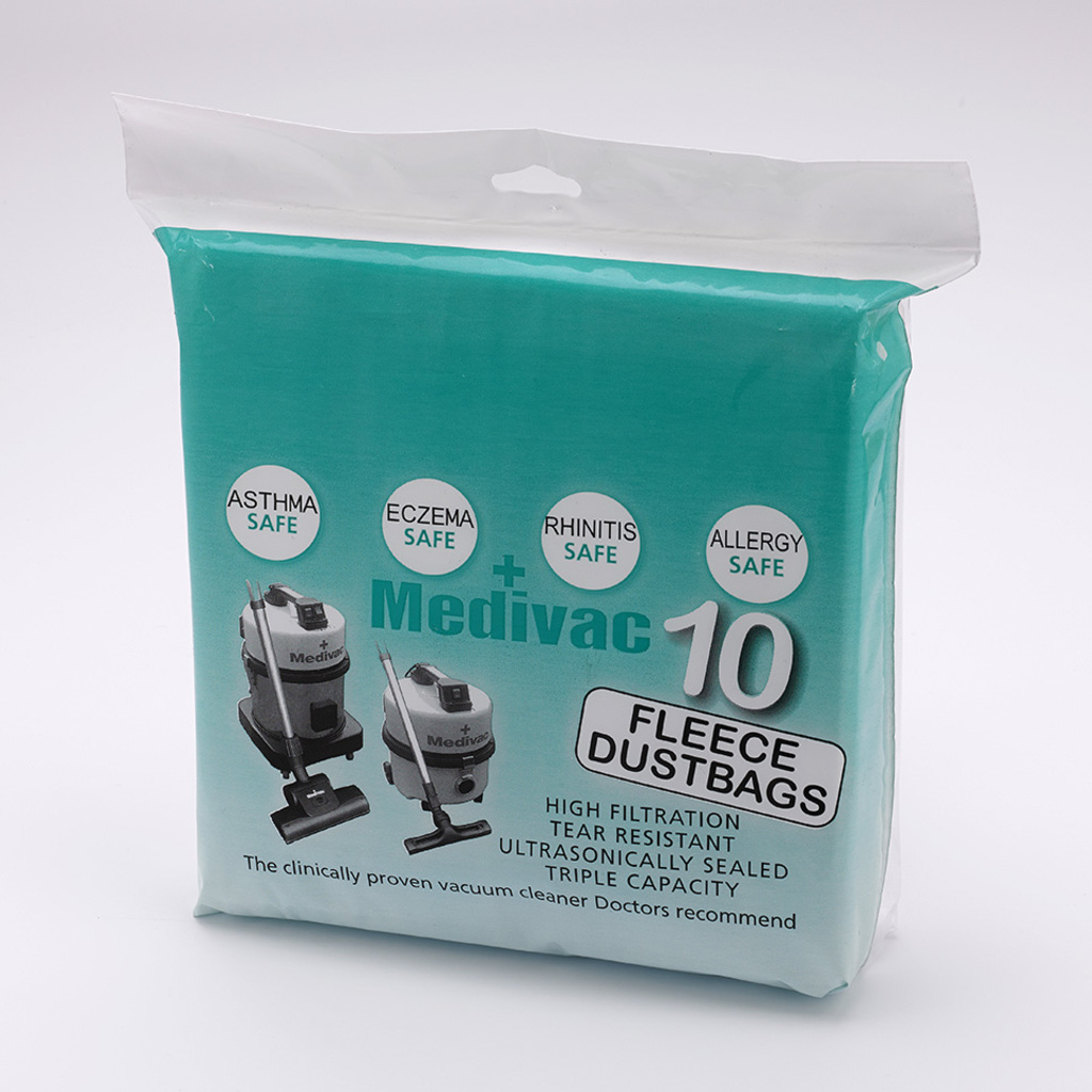 Fleece Dustbags to fit Medivac Vacuum Cleaners: 3 for 2