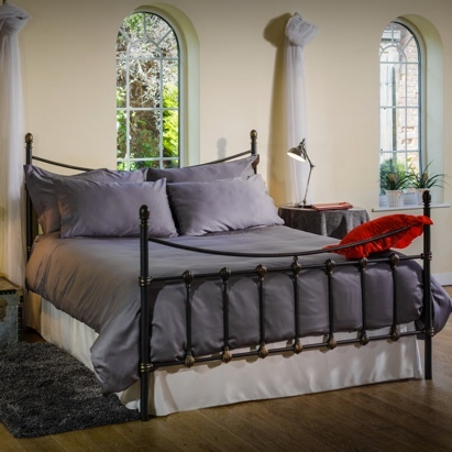 Click to enlarge - Allergy Friendly Bamboo Bed Linen in Smoky Grey
