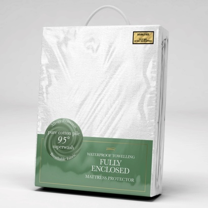 Click to enlarge - Waterproof Anti-allergy Mattress Protector (Fully Enclosed)