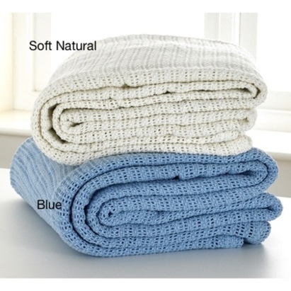 Click to enlarge - 100% Cotton Cellular Blanket