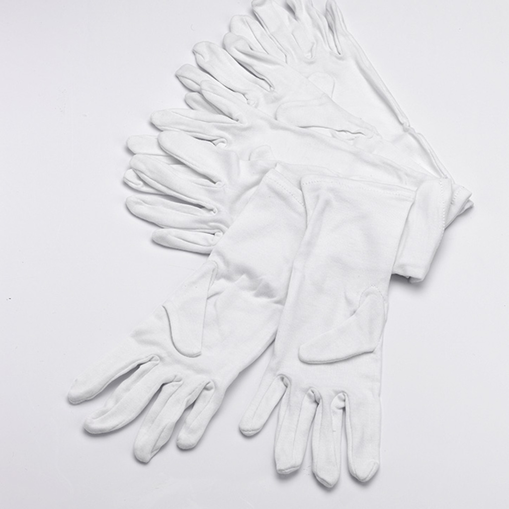 White Cotton Gloves for Babies and Toddlers