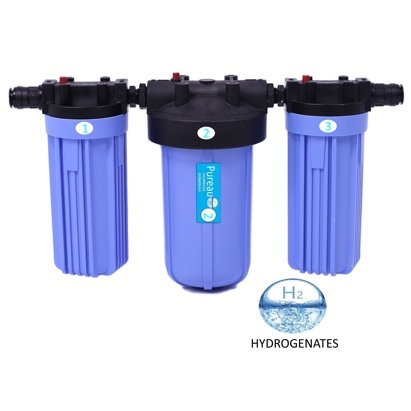 Click to enlarge - Pureau H+ No-Salt Whole House Water Filter System