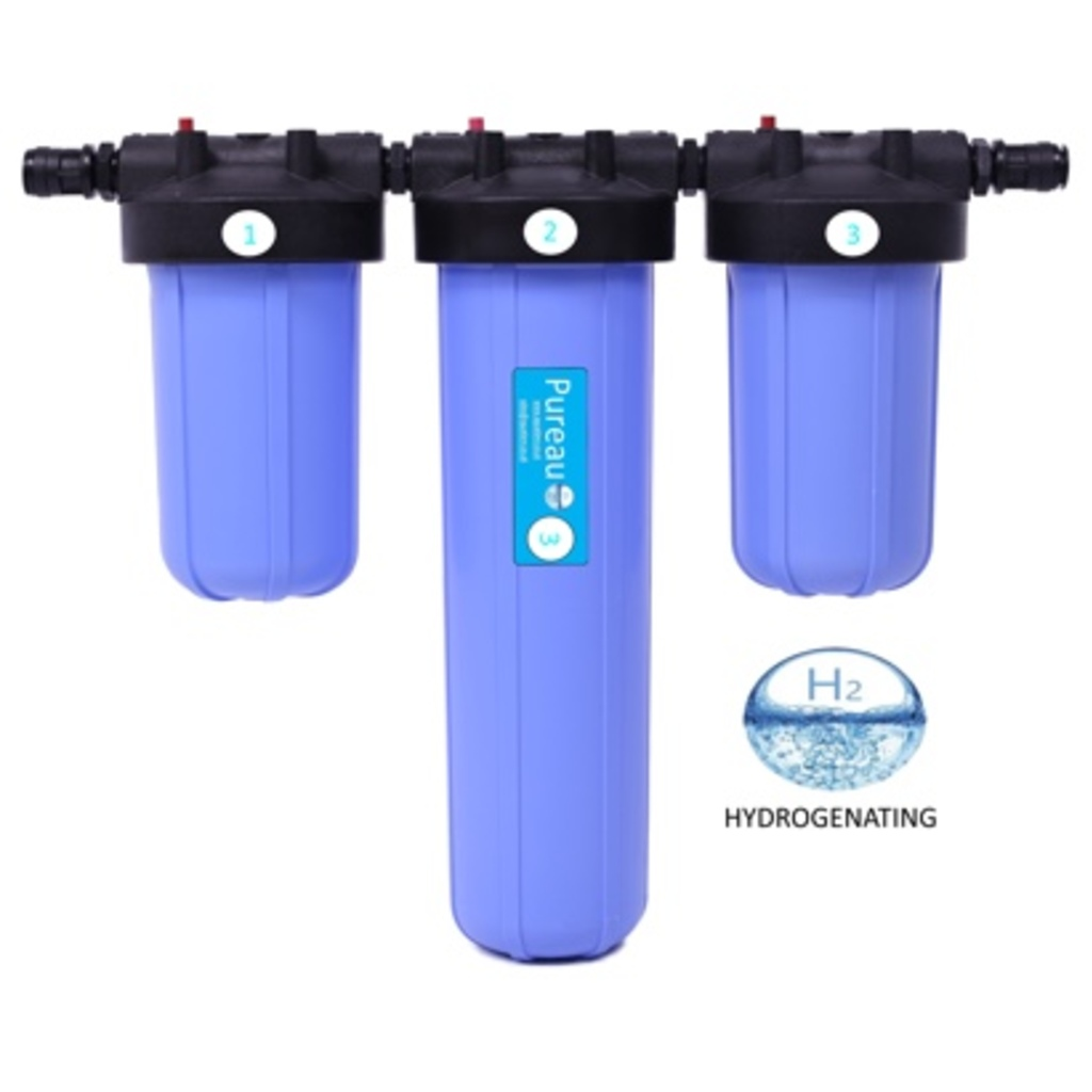 Pureau H+ No-Salt Whole House Water Filter System
