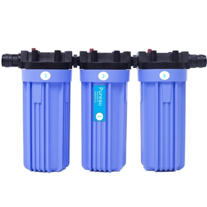 Click to enlarge - Pureau No-Salt Whole House Water Filter System