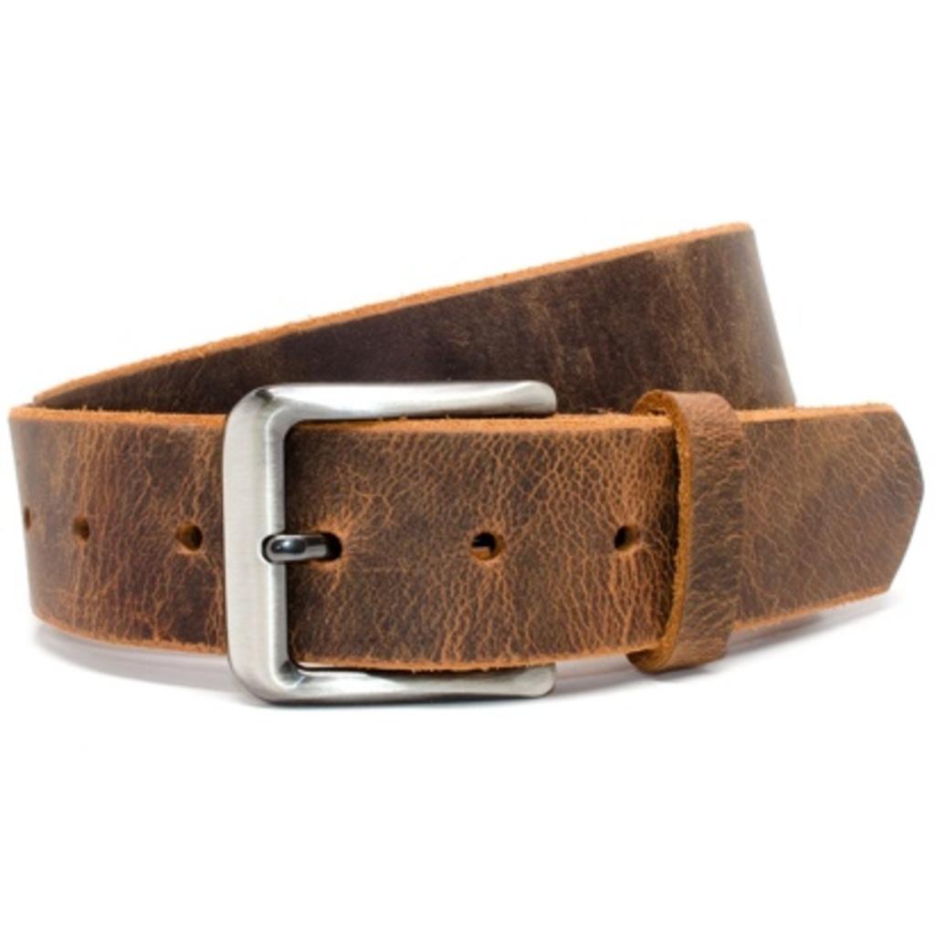 Nickel Free Men's Distressed Leather Belt