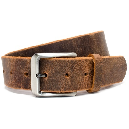 Click to enlarge - Nickel Free Men's Distressed Leather Belt