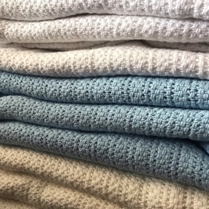 Click to enlarge - 100% Cotton Cellular Blanket