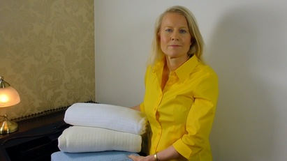 Click to enlarge - Cellular Blankets from Allergy Best Buys help you control your temperature in bed
