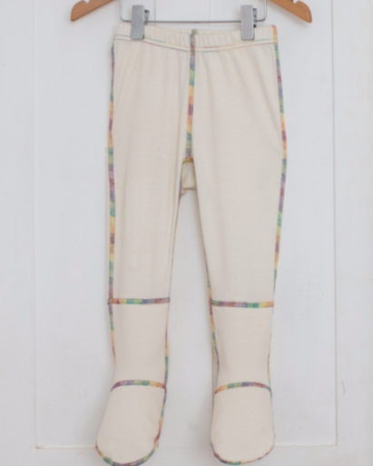 Click to enlarge - Child's PJ Bottoms with Foot Mitts for Eczema