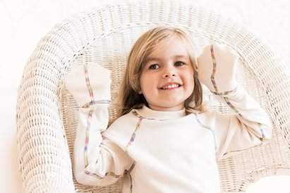Click to enlarge - Child's Sleep T with Mittens for Eczema