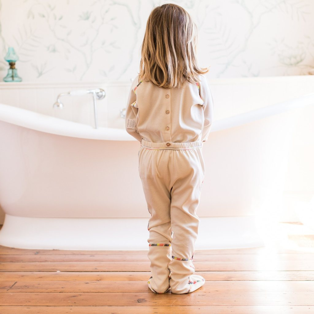 Child's PJ Suit with Hand and Foot Mitts for Eczema