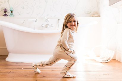 Click to enlarge - Child's PJ Suit with Hand and Foot Mitts for Eczema