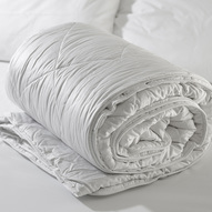 Category tile silk duvet