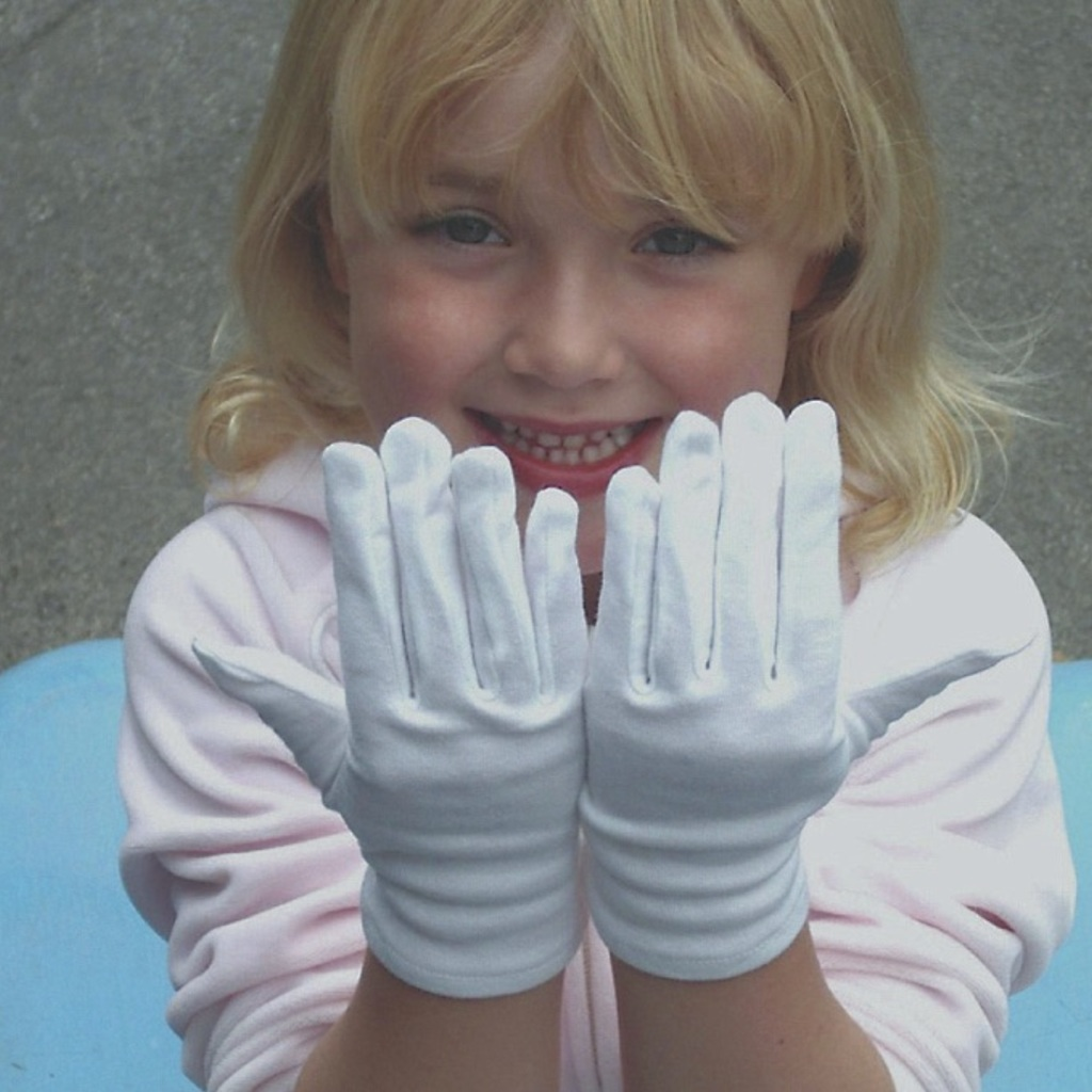 White Cotton Gloves for Adults and Children