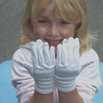 White Cotton Gloves For Eczema For Adults And Children