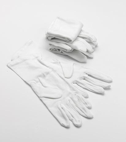 Click to enlarge - White Cotton Gloves for eczema protection sold in packs of 3 or 6