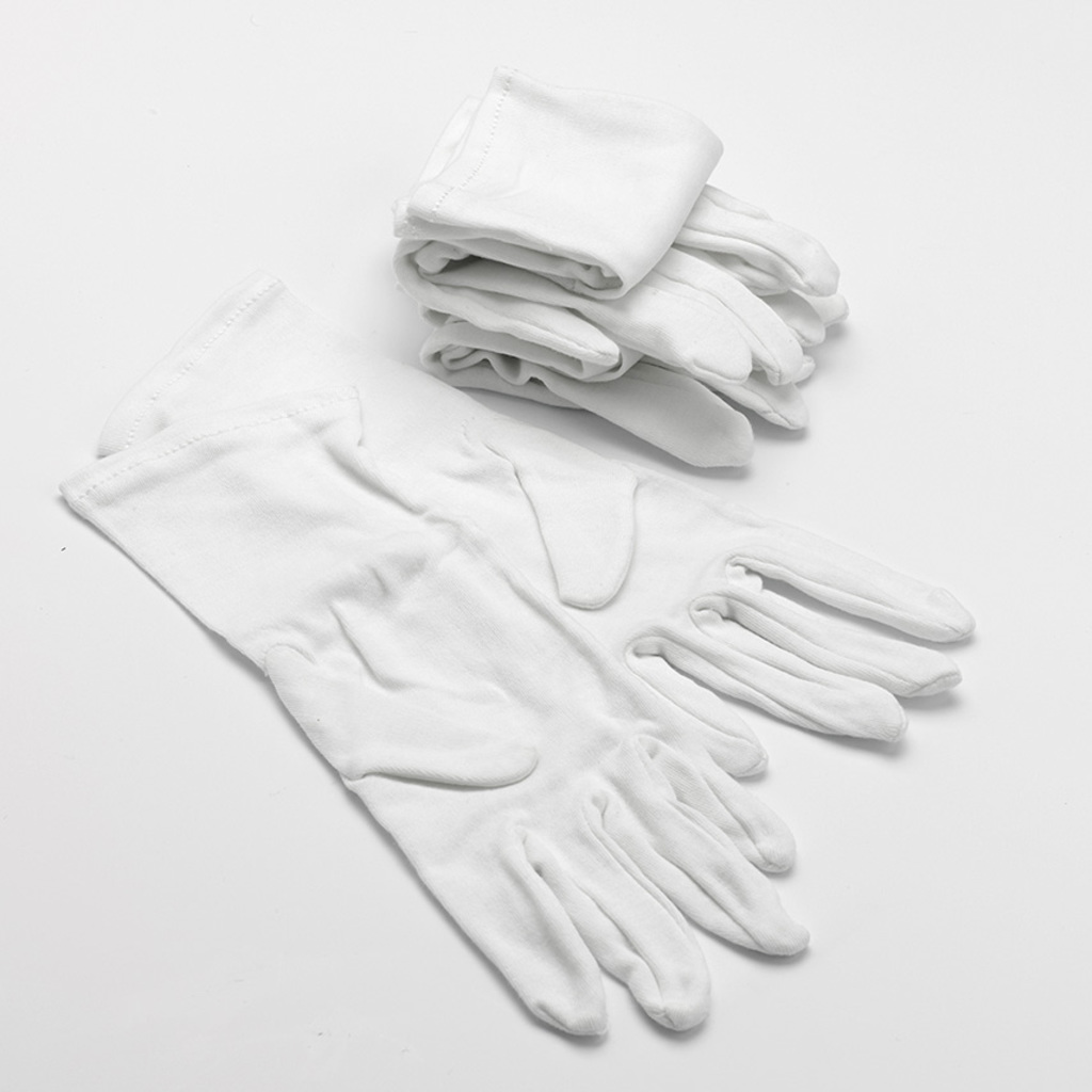 White Cotton Gloves for Adults with Eczema