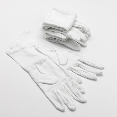 Click to enlarge - White Cotton Gloves for Adults and Children