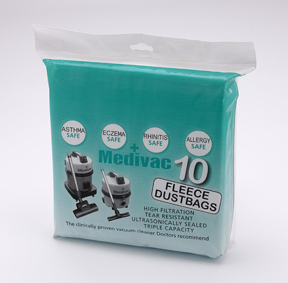 Click to enlarge - New Fleece Dustbags For Medivac Vacuuum Cleaners