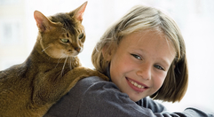 Girl cat hi res banner right